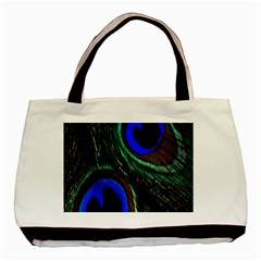 Peacock Feather Basic Tote Bag by Simbadda