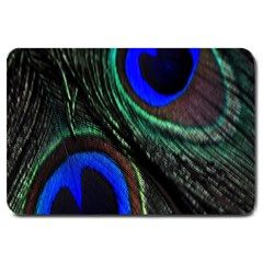 Peacock Feather Large Doormat  by Simbadda
