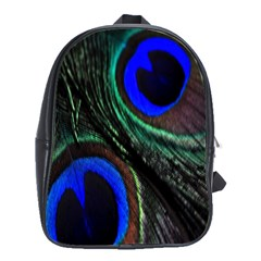 Peacock Feather School Bags(large)  by Simbadda