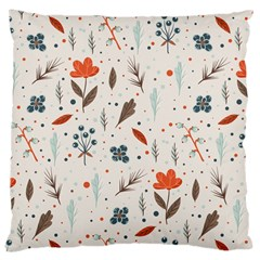 Seamless Floral Patterns  Large Cushion Case (two Sides) by TastefulDesigns