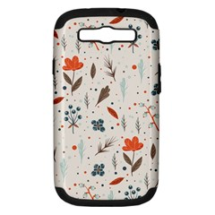 Seamless Floral Patterns  Samsung Galaxy S Iii Hardshell Case (pc+silicone) by TastefulDesigns