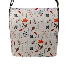 Seamless Floral Patterns  Flap Messenger Bag (l)  by TastefulDesigns