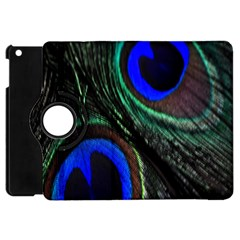 Peacock Feather Apple Ipad Mini Flip 360 Case by Simbadda