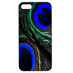 Peacock Feather Apple Iphone 5 Hardshell Case With Stand by Simbadda