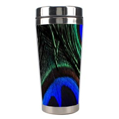 Peacock Feather Stainless Steel Travel Tumblers by Simbadda