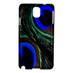 Peacock Feather Samsung Galaxy Note 3 N9005 Hardshell Case by Simbadda