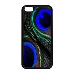 Peacock Feather Apple Iphone 5c Seamless Case (black) by Simbadda