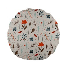 Seamless Floral Patterns  Standard 15  Premium Flano Round Cushions by TastefulDesigns