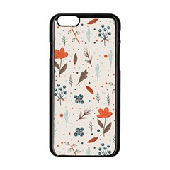 Seamless Floral Patterns  Apple Iphone 6/6s Black Enamel Case by TastefulDesigns