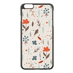 Seamless Floral Patterns  Apple Iphone 6 Plus/6s Plus Black Enamel Case by TastefulDesigns