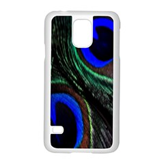 Peacock Feather Samsung Galaxy S5 Case (white) by Simbadda