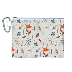 Seamless Floral Patterns  Canvas Cosmetic Bag (l) by TastefulDesigns