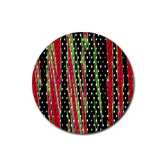 Alien Animal Skin Pattern Rubber Round Coaster (4 Pack)  by Simbadda