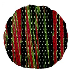 Alien Animal Skin Pattern Large 18  Premium Round Cushions by Simbadda