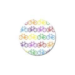 Rainbow Colors Bright Colorful Bicycles Wallpaper Background Golf Ball Marker by Simbadda
