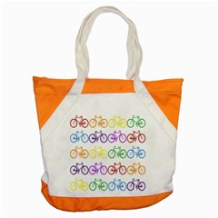 Rainbow Colors Bright Colorful Bicycles Wallpaper Background Accent Tote Bag by Simbadda