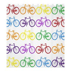 Rainbow Colors Bright Colorful Bicycles Wallpaper Background Shower Curtain 66  X 72  (large)  by Simbadda