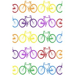 Rainbow Colors Bright Colorful Bicycles Wallpaper Background 5 5  X 8 5  Notebooks by Simbadda