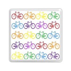 Rainbow Colors Bright Colorful Bicycles Wallpaper Background Memory Card Reader (square)