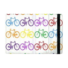 Rainbow Colors Bright Colorful Bicycles Wallpaper Background Apple Ipad Mini Flip Case by Simbadda