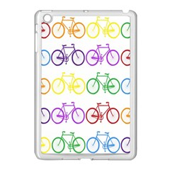 Rainbow Colors Bright Colorful Bicycles Wallpaper Background Apple Ipad Mini Case (white) by Simbadda