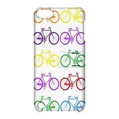 Rainbow Colors Bright Colorful Bicycles Wallpaper Background Apple Ipod Touch 5 Hardshell Case With Stand by Simbadda