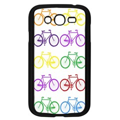 Rainbow Colors Bright Colorful Bicycles Wallpaper Background Samsung Galaxy Grand Duos I9082 Case (black) by Simbadda