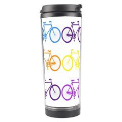 Rainbow Colors Bright Colorful Bicycles Wallpaper Background Travel Tumbler by Simbadda