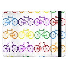 Rainbow Colors Bright Colorful Bicycles Wallpaper Background Samsung Galaxy Tab Pro 12.2  Flip Case
