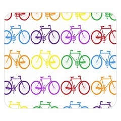 Rainbow Colors Bright Colorful Bicycles Wallpaper Background Double Sided Flano Blanket (small)  by Simbadda