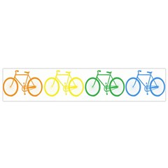 Rainbow Colors Bright Colorful Bicycles Wallpaper Background Flano Scarf (small) by Simbadda