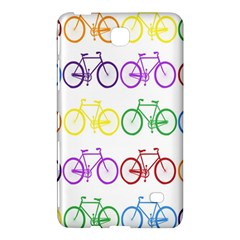 Rainbow Colors Bright Colorful Bicycles Wallpaper Background Samsung Galaxy Tab 4 (7 ) Hardshell Case  by Simbadda