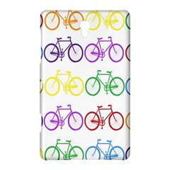 Rainbow Colors Bright Colorful Bicycles Wallpaper Background Samsung Galaxy Tab S (8 4 ) Hardshell Case