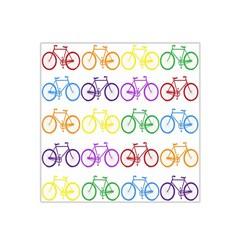 Rainbow Colors Bright Colorful Bicycles Wallpaper Background Satin Bandana Scarf by Simbadda
