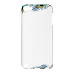 Beautiful Frame Made Up Of Blue Peacock Feathers Apple Ipod Touch 5 Hardshell Case by Simbadda
