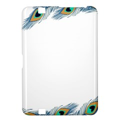 Beautiful Frame Made Up Of Blue Peacock Feathers Kindle Fire Hd 8 9  by Simbadda