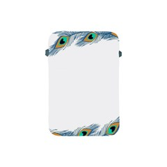 Beautiful Frame Made Up Of Blue Peacock Feathers Apple Ipad Mini Protective Soft Cases by Simbadda