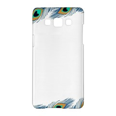 Beautiful Frame Made Up Of Blue Peacock Feathers Samsung Galaxy A5 Hardshell Case  by Simbadda