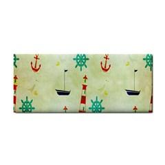 Vintage Seamless Nautical Wallpaper Pattern Cosmetic Storage Cases by Simbadda