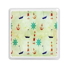 Vintage Seamless Nautical Wallpaper Pattern Memory Card Reader (square)  by Simbadda