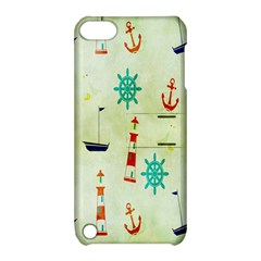 Vintage Seamless Nautical Wallpaper Pattern Apple Ipod Touch 5 Hardshell Case With Stand by Simbadda