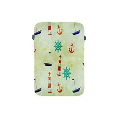 Vintage Seamless Nautical Wallpaper Pattern Apple Ipad Mini Protective Soft Cases by Simbadda