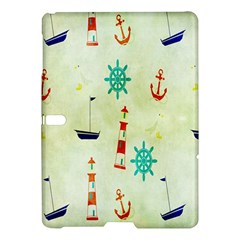 Vintage Seamless Nautical Wallpaper Pattern Samsung Galaxy Tab S (10 5 ) Hardshell Case  by Simbadda