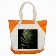 Feather Peacock Drops Green Accent Tote Bag by Simbadda