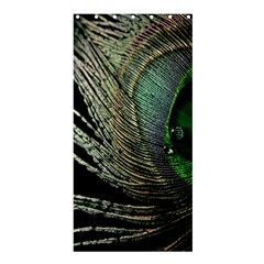 Feather Peacock Drops Green Shower Curtain 36  X 72  (stall)  by Simbadda