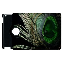 Feather Peacock Drops Green Apple Ipad 2 Flip 360 Case by Simbadda