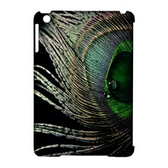 Feather Peacock Drops Green Apple Ipad Mini Hardshell Case (compatible With Smart Cover) by Simbadda
