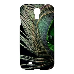 Feather Peacock Drops Green Samsung Galaxy S4 I9500/i9505 Hardshell Case