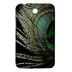Feather Peacock Drops Green Samsung Galaxy Tab 3 (7 ) P3200 Hardshell Case  by Simbadda