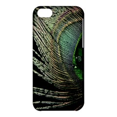 Feather Peacock Drops Green Apple Iphone 5c Hardshell Case by Simbadda